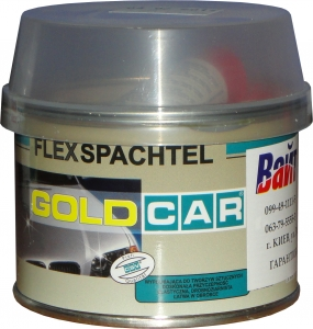 Купить Шпатлевка по пластику FLEX Gold Car, 0,5кг - Vait.ua