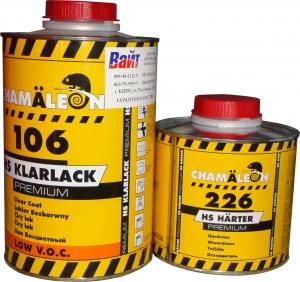 Купить Бесцветный лак HS Chamaleon Klarlack Premium Low V.O.C.106 (1л) с отвердителем 226 (0,5л) - Vait.ua