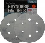 Абразивный диск INDASA RHYNOGRIP FILM LINE на пленке, D150mm, 6 отверстий, P1200