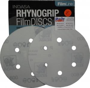 Купить Абразивный диск INDASA RHYNOGRIP FILM LINE на пленке, D150mm, 6 отверстий, P600 - Vait.ua
