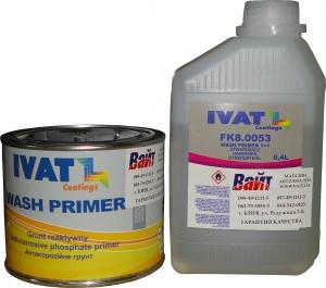 Купить Грунт протравливающий Ivat Wash Primer 1:1, 0,4л + отвердитель 0,4л - Vait.ua
