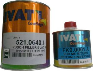 Купить Грунт акриловый Ivat Rush 5:1 (1л) с отвердителем (0,2л), темно-серый - Vait.ua