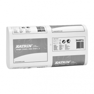 Купить Katrin 34401 Полотенца бумажные Plus One stop L 3 (90 салфеток) - Vait.ua