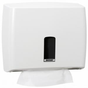 Купить Katrin 95312 Диспенсер для листовых полотенец размер S, Белый - Vait.ua