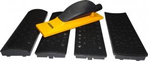 Купить Ручной шлифовальный блок (рубанок) Mirka с пылеотводом 70мм х 198мм, 40 отверстия + комплект насадок - Vait.ua