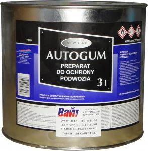 Купить Мастика Moto Gama Autogum для защиты кузова и автомобильных шасси, 3л - Vait.ua