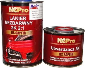 Купить Двухкомпонентный акриловый лак NCPro HS САПФИР SAPFIR (1л) + отвердитель (0,5л) - Vait.ua