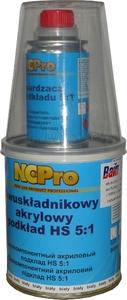 Купить Двухкомпонентный акриловый грунт HS 5:1 NCPro (0,8л) с отвердителем (0,16л), серый - Vait.ua