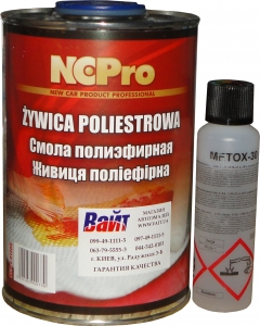 Купить Смола полиэфирная NCPro 1л в комплекте с отвердителем - Vait.ua