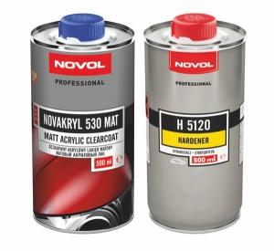 Купить Матовый акриловый лак NOVOL NOVAKRYL 530 MAT (0,5л) + отвердитель (0,5л) - Vait.ua
