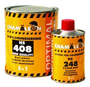 Купить Акриловый грунт-наполнитель 408 5+1 Chamaleon HS Optimal (1л) + отвердитель (0,2л), черный - Vait.ua