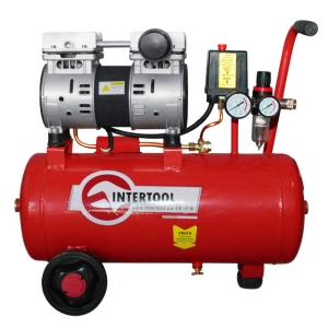 Купить Компрессор Intertool PT-0022, 24л, 1,5HP, малошумный, безмасляный, 2 цилиндра - Vait.ua