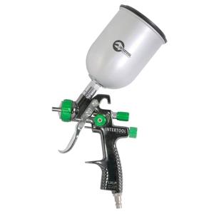 Купить LVLP GREEN NEW Краскопульт INTERTOOL PT-0131, верхний металлический бачек, 1,3мм - Vait.ua