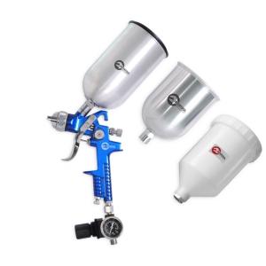 Купить HVLP BLUE PROF KIT Краскопульт 1,7мм + регулятор давления + три бачка (2-метал 800, 600) - Vait.ua