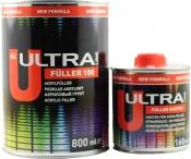 Акриловый 2К грунт 5:1 Ultra Novol Fuller 100 (0,8л) + отвердитель (0,16л), белый