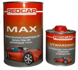 Купить Грунт акриловый 5+1 HS Red Car MAX POD, черный + отвердитель (комплект 1,4кг) - Vait.ua
