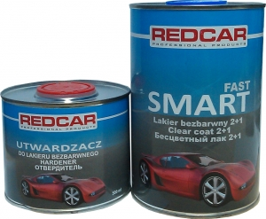 Купить Акриловый 2К лак Red Car Smart Fast с высоким содержанием твердых веществ ANTISCRATCH 2:1 (не царапающийся) 1л + отвердитель (0,5л) - Vait.ua