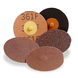 Купить Круг фибровый 3M 361F (оксид алюминия) с креплением ROLOC™, диаметр 50мм, P36 (коричневый) - Vait.ua