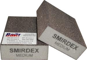 Купить Абразивный блок 4-сторонний SMIRDEX (cерия 920), 100 x 70 x 25 мм, Medium - Vait.ua