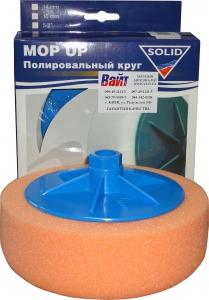 Купить Круг полировальный Solid Mop Up М14, 150 х 50мм, средней твердости, оранжевый - Vait.ua