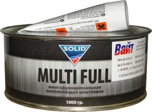 Купить Шпатлевка наполнительная среднезернистая полиэфирная Solid Multifull, 1,0кг - Vait.ua