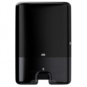 Купить Tork 552008 Диспенсер для листовых полотенец сложения Interfold. Черный - Vait.ua