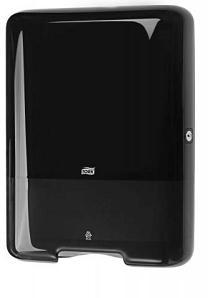 Купить Tork 553008 Диспенсер для листовых полотенец сложения ZZ. Черный - Vait.ua