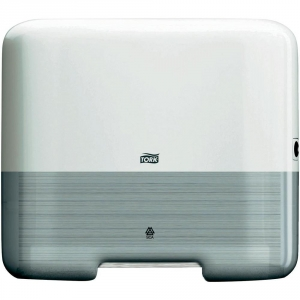 Купить Tork 553100 Мини-диспенсер для листовых полотенец сложения ZZ. Белый - Vait.ua