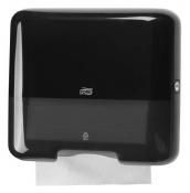 Tork 553108 Мини-диспенсер для листовых полотенец сложения ZZ. Черный