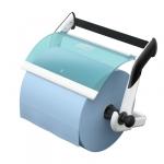 Tork 652100 Настенный диспенсер для протирочных материалов в рулоне. Белый-Бирюзовый