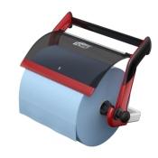 Tork 652108 Настенный диспенсер для протирочных материалов в рулоне. Красный-Черный