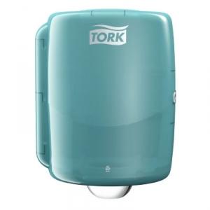 Купить Tork 653000 Настенный диспенсер для рулонов со съемной втулкой. Белый-Бирюзовый - Vait.ua