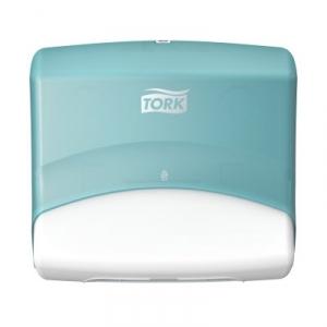 Купить Tork 654000 Настенный диспенсер для материалов в салфетках. Белый-Бирюзовый - Vait.ua