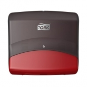 Tork 654008 Настенный диспенсер для материалов в салфетках. Красный-Черный