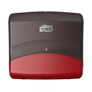 Купить Tork 654008 Настенный диспенсер для материалов в салфетках. Красный-Черный - Vait.ua