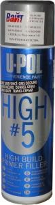 Купить Грунт толстослойный аэрозольный HIGH#5™ U-Pol (серия Convenience), серый - Vait.ua