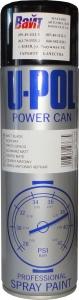 Купить Краска черная матовая U-Pol POWER CAN в аэрозоли, 500 мл - Vait.ua