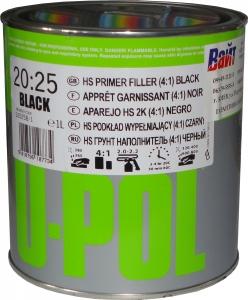 Купить 2К 4:1 Акриловый грунт-наполнитель S2025 U-Pol HS черный, 1л - Vait.ua