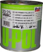 2К 4:1 Акриловый грунт-наполнитель S2025 U-Pol HS темно-серый, 1л