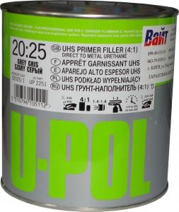 Купить 2К 4:1 Акриловый грунт-наполнитель S2025 U-Pol HS серый, 1л - Vait.ua