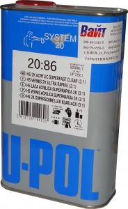Купить S2086/1 Быстрый лак U-POL HS Super Fast Clear 3:1, 1л - Vait.ua