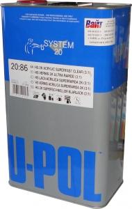 Купить S2086/5 Быстрый лак U-POL HS Super Fast Clear 3:1, 5л - Vait.ua