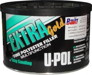 Купить UPEG/2 EXTRA GOLD™ Мультифункциональная эластичная легкошлифуемая шпатлевка U-Pol™ в банке, 2кг - Vait.ua