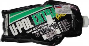 Купить UPEG/BM EXTRA GOLD™ Мультифункциональная эластичная легкошлифуемая шпатлевка U-Pol™ в пакете, 600мл - Vait.ua