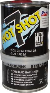 Купить HOT7/1 Прозрачный лак U-POL HOTSHOT HS 2:1 с отвердителем (объем готовой к нанесению смеси 1литр) - Vait.ua