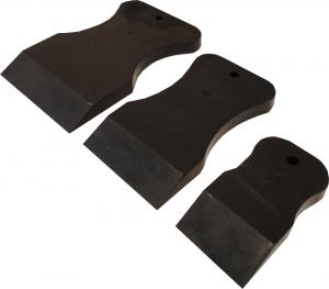 Купить  Набор резиновых шпателей из стойкой к агрессивным жидкостям резины, черный, мягкий - Vait.ua