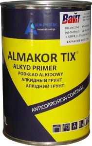 Купить 1К толстослойный антикоррозийный алкидный грунт ALMAKOR-TIX, 0,7л, черный - Vait.ua