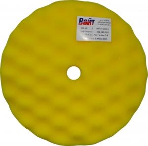Купить 080502 Полировальная губка профилированная универсальная APP f210 на липучке, 210мм х 3,0см, желтая - Vait.ua