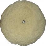 Полировальный круг Cartec средней жесткости из витой овчины, диаметр 150мм (на липучке)