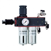 Фильтр-влагомаслоотделитель DeVilbiss с регулятором давления DVFR-2